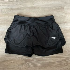 Diadora | Black Athletic shorts
